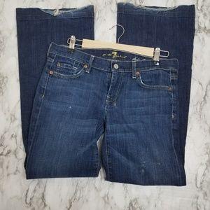 7 for All Man Kind dojo flip flop jeans